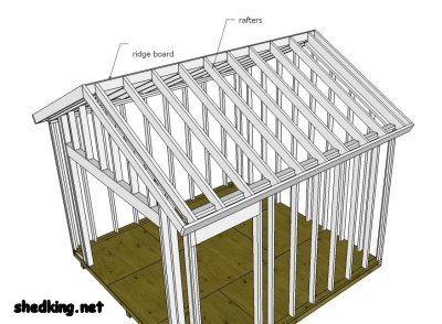 Shed roof framing made easy for Building a shed style roof