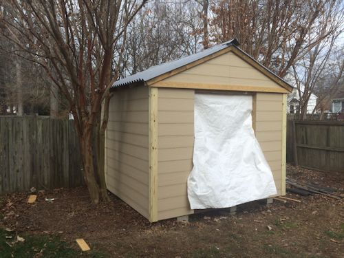 rods gable shed just needs shed doors now