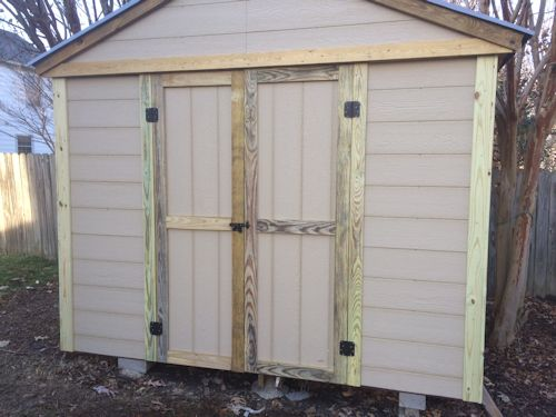 rods gable shed pretty much done