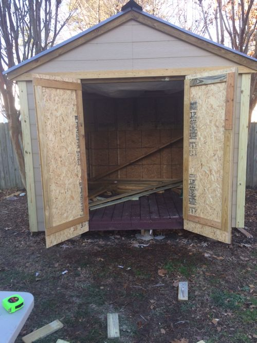 rods gable shed with doors on