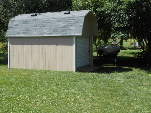 you can add garage doors to your shed too!