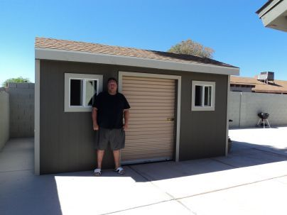 Adding a roll up shed door to your awesome shed