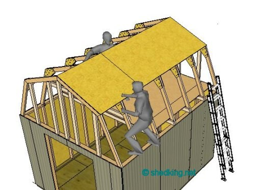 Shed roof framing made easy for Barn roof plans