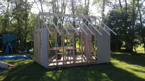 roof framing sarahs garden shed