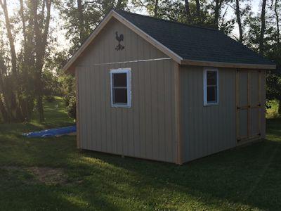 Trim work on sarahs garden shed