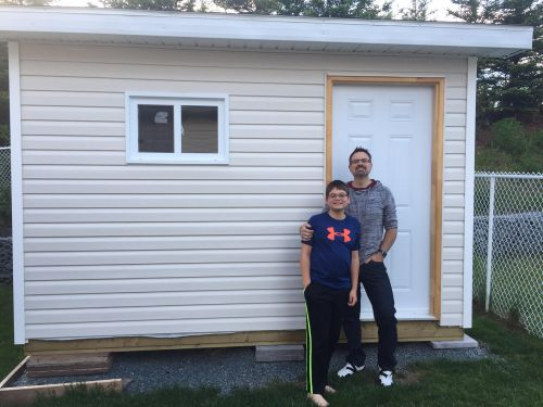 Sean's neat shed built from my 10x12 gable shed plans.