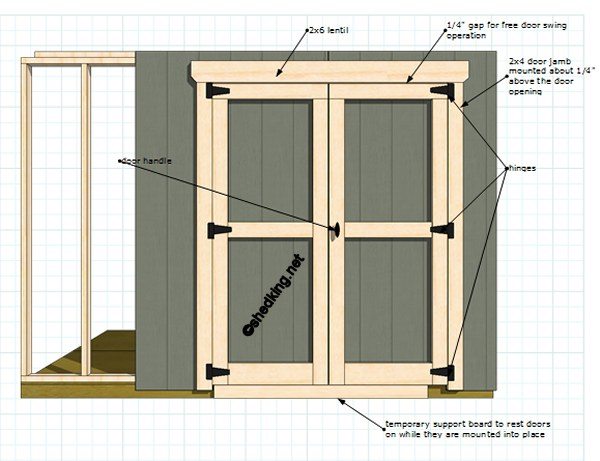 Double shed doors for Double door shed plans