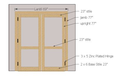5' wide shed door layout