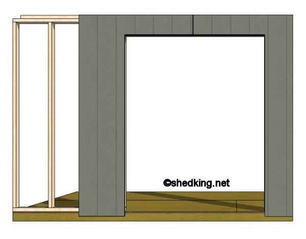 double shed doors panel placement