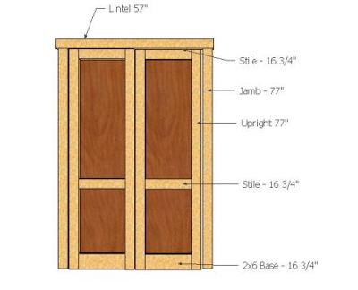 Shed project free how to build shed doors double for Double door shed plans