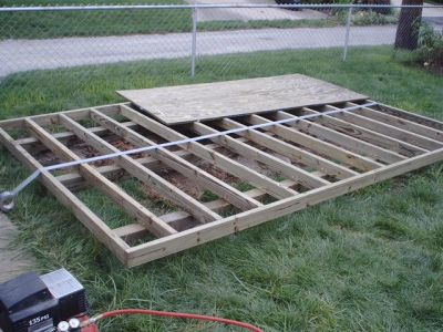 How to build a shed floor and shed foundation for 12x10 deck plans