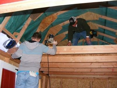 adding a shed loft before sheeting your shed roof