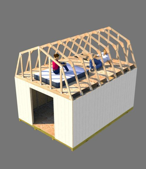 shed loft sleeping area