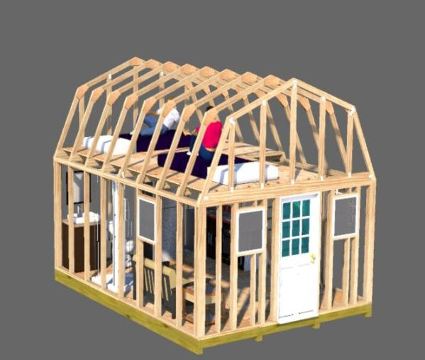 shed loft for sleeping