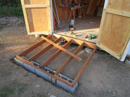 How to build a ramp for your shed.