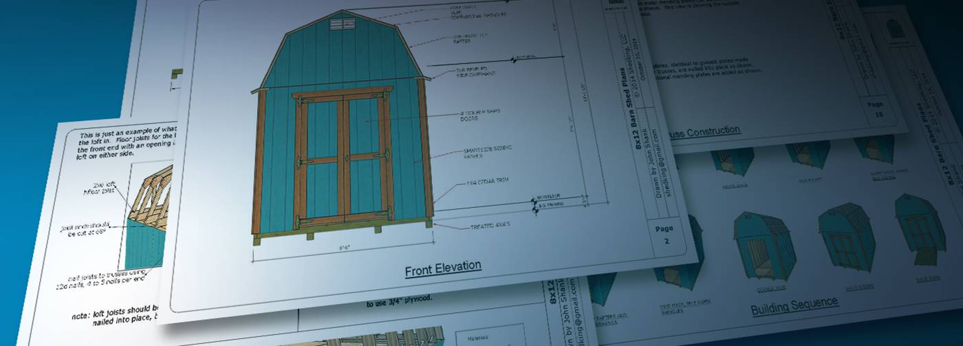 How to build a shed shed designs shed building plans for Free shed design software with materials list