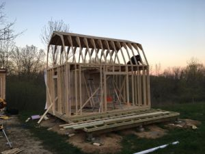12x16 barn shed with porch