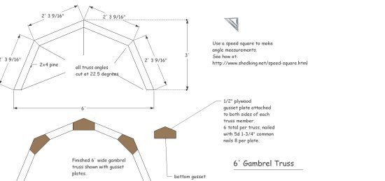 use these truss plans to learn how to build a shed roof