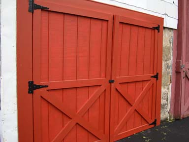 Warping plywood shed doors