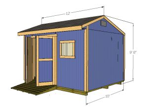 12x10 wood shed plans  sc 1 st  Shedking & 12x10 saltbox shed plans