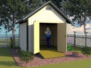 10x10 backyard storage shed as a she shed