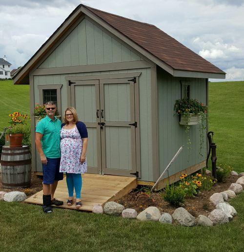 Backyard Storage Shed 10x10 Gable Shed Plans