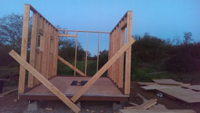 wall bracing on the 10x12 barn tiny house