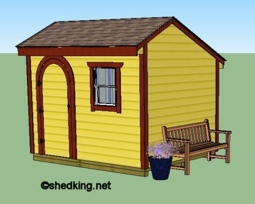 10x8 saltbox storage shed plans