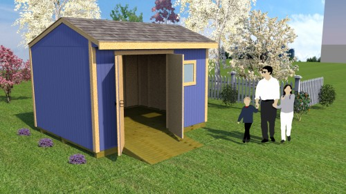 12x10 saltbox storage shed plans
