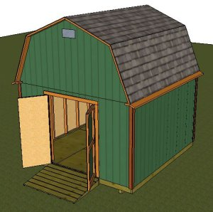 10x12 gambrel shed designs