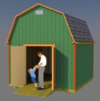 12x12 barn shed plans
