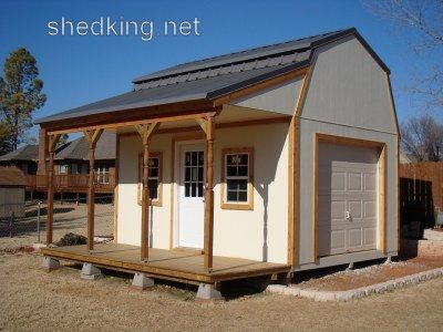 Barn shed plans small barn plans gambrel shed plans for Shed with porch and loft