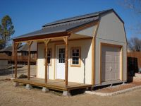 12x16 gambrel roof with porch shed plans