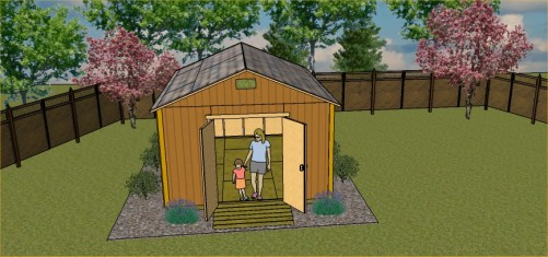 12x16 gable storage shed plans