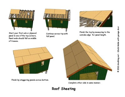12x16 gable storage shed plans with roll up shed door Workshop plans 12x16