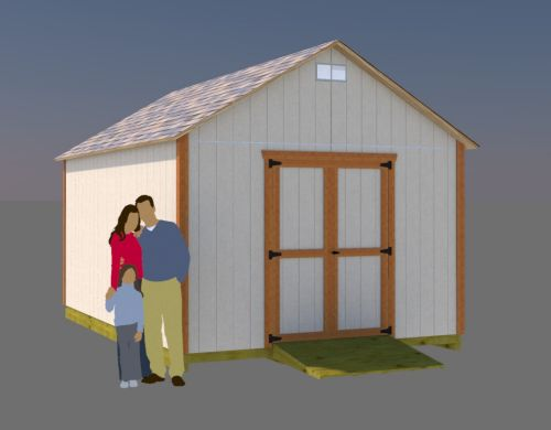 Storage Shed Building Plans, 12x16 Gable Shed plans