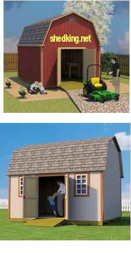 Easy to build 12x16 barn shed