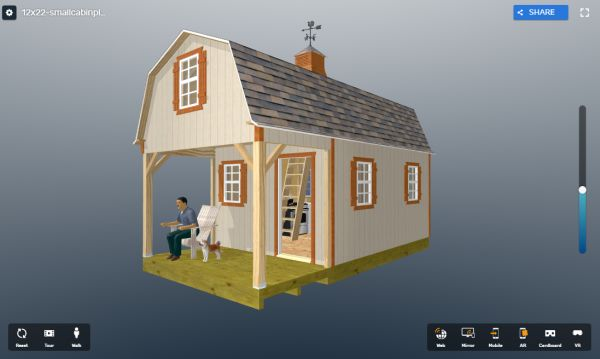 12x22 shed home plans virtual tour