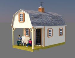 12x22 Barn Shed Plans