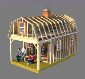 Framing 12x22 gambrel shed home plans