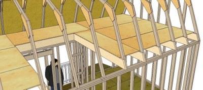 huge loft for storage or living quarters