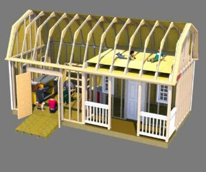 Use these 12x24 plans to build a super workshop