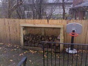 Matt's firewood storage shed