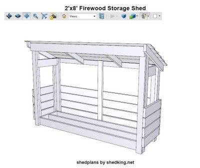 3d pdf file with firewood shed plans
