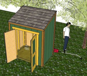 4x6 lean to shed designs