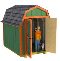 6x8 barn shed plans