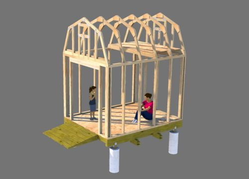 8x10 small barn plans framing