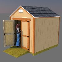 Shed plans for an 8x10 gable shed