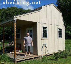 utility shed with porch
