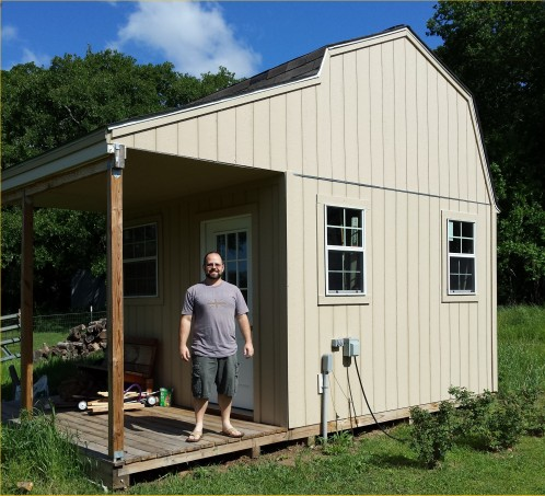 Davids barn shed with porch